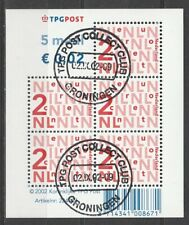 Nederland NVPH 2034b Vel Bijplakzegels 2002 Gestempeld Groningen