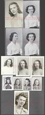 Lot of 12 Vintage 1940s Photos Pretty Teen Girl in Portraits 676467