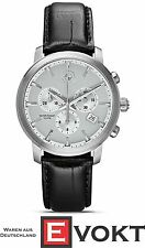BMW Watch 80262311778 Chronograph Date Men's Leather Water Resistant Genuine New