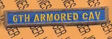 6TH ARMORED CAV TANK TAB patch