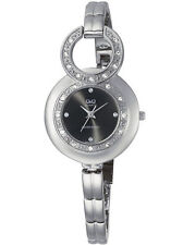 Q&Q by Citizen F329J202Y Crystal Black Dial Dress Women's Watch ~ GREAT GIFT