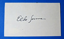 ELKE SOMMER SIGNED 3x5 INDEX CARD - GERMAN ACTRESS