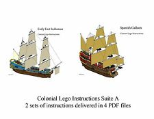 Lego Pirate Imperial Armada Inst. Suite G Indiaman, Galleon