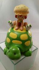 Strawberry Shortcake Apple Dumplin on Teatime Green Turtle Music Box Works Vtg
