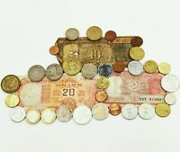 ~ Mixed Foreign Currency Bundle ~ Euro ~ Rupee ~ Peso ~ Dollar ~ Guilder ~