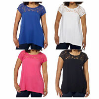DKNY Jeans Ladies Short Sleeve Floral Lace Top -Variety