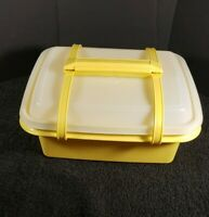 Vintage Tupperware Yellow Pack N' Carry Lunch Box