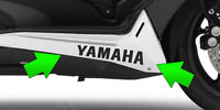 Adesivi sottopedana Yamaha TMAX 530 T MAX stickers decal tuning moto racing