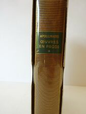 APOLLINAIRE (Guillaume). Œuvres en prose. Tome I - 1977 - PLEIADE