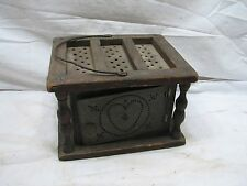 Primitive Punched Tin Foot/Bed Warmer Church/School/Sleigh Stove Heater Folk Art