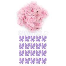 100pcs Wired Mesh Stocking Glitter Butterflies Wedding Craft Deco Purple & Pink