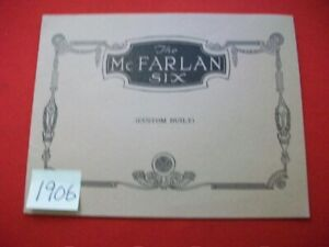 THE McFARLAN SIX FACTORY SALES BROCHURE-ALL MODELS WITH SPECIFICATIONS