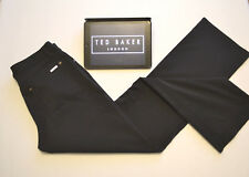 TED BAKER Women's Black Trousers Pants Chino's Straight Leg Skinny W32 L31