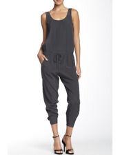 $350 VINCE Sleeveless 100% Silk Romper Jumpsuit Gray Slate  Size 4