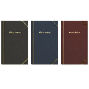 "TALLON 6"" X 4"" PLAIN PHOTO ALBUM WITH 300 POCKETS -7531 (ASSORTED COLOURS)"
