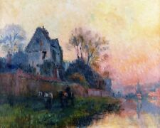 Albert Lebourg  Banks Of The Seine At Chatou     - 24'  CANVAS