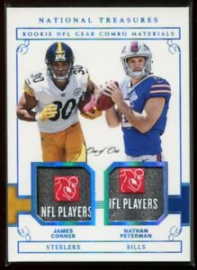 2017 National Treasures Peterman James Conner Rookie Dual Laundry Tag Patch 1/1