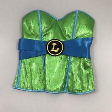 TMNT Leonardo Sequin bustier corset costume M  nickelodeon Teenage Mutant Ninja