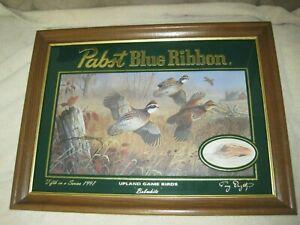 "Pabst Blue Ribbon Beer Wildlife Mirror: Upland Game Birds ""Bobwhite"""