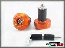 Strada 7 Racing CNC Orange Handle Bar Ends Ducati 1198 1098 S Tricolor 848 / EVO