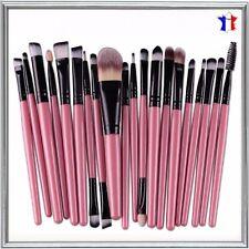 20pc Trousse Pinceaux Brosse Maquillage Cosmetique Brush Poudre Fard Teint Blush