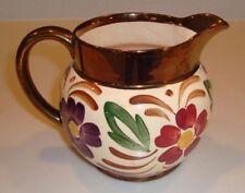 1937 - 1940 WADE HEATH Copper Luster  LARGE MILK JUG  Dandy Daisies Design