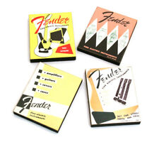 (4) Genuine Fender Vintage Lounge Series Catalog Fridge Magnets 910-0001-000