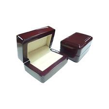 Luxury Rose wood double ring presentation box