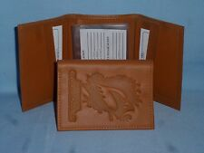 ARIZONA CARDINALS   Leather TriFold Wallet  NEW!  tan  bb