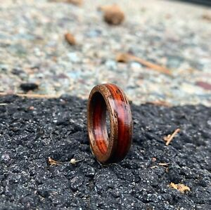 Handmade Cocobolo & Walnut Wood Ring | Men's Ring | Women's Ring Size 4 - 11