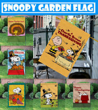 Thanksgiving Outdoor Yard Banner Snoopy Dog Turkey Day Double-sided Garden Flag