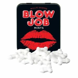 Penis Shaped Blow Job Mints Tin Adult Novelty Funny Valentines Joke Hen Stag
