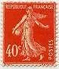 "FRANCE STAMP TIMBRE 194 "" SEMEUSE FOND PLEIN , 40 C VERMILLON "" NEUF xx TTB"