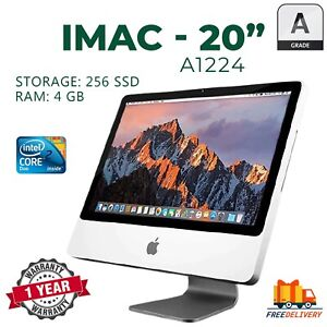 APPLE IMAC A1224 20in 2008 CORE 2 DUO 8GB RAM 256GB SSD FREE KEYBOARD AND MOUSE