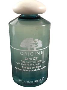 Origins Zero Oil Pore Purifying With Saw Palmetto and Mint Toner 5 fl oz/ 150 ml