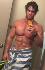 """Shirtless Male Muscular Beefcake After Shower In Towel PHOTO 4""""X6"""" Pinup C2086"""