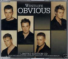 WESTLIFE - OBVIOUS / WESTLIFE HITS MEDLEY 2004 EU CD SINGLE