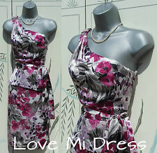 NEXT - One Shoulder Flower Print Peplum Dress 8 EU36