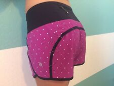 Lululemon Run Times Short 6 Nightfall Raspberry Silver Reflective Dot Plum Speed