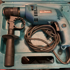 Makita HP1501 Corded Hammer Drill with Case & Handle