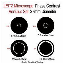 Phase Contrast Set 27mm Diameter  for LEITZ Microscope