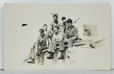RPPC WWII Sailors Unique Note about Pro German on Front Real Photo Postcard P16