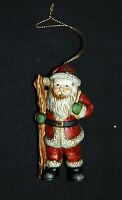 "Ceramic Santa Claus Ornament 4"" Figurine Christmas Season Holiday New"