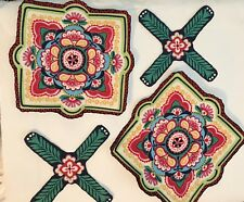 Large Colorful Medallions  - Iron On Fabric Appliques - Patches
