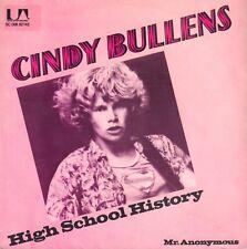 "CINDY BULLENS – High School History (1979 VINYL SINGLE 7"" HOLLAND)"