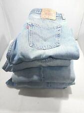 LOT of 5 Levi's Size 36 x 34 Men's Denim Blue Jeans Light Wash 5 Button EUC