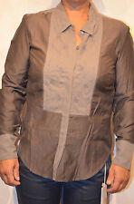 jolie chemise coton soie marron MARITHÉ FRANCOIS GIRBAUD taille S NEUF/ÉTIQUETTE