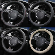 Auto Car Steering Wheel Cover Genuine Cow Leather 38cm/15'' for TOYOTA Honda