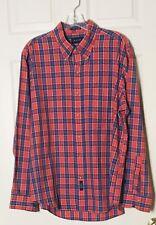 GANT Foxhunt Plaid Button Down Shirt Size XL. Red/blue Plaid Vintage
