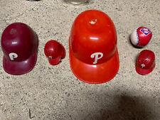 New listing Philadelphia Phillies Ice Cream Bowl Mini Baseball Helmet Rawlings Baseball Lot